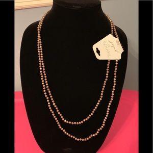 "Jewelry - NWT 60"" bead necklace"